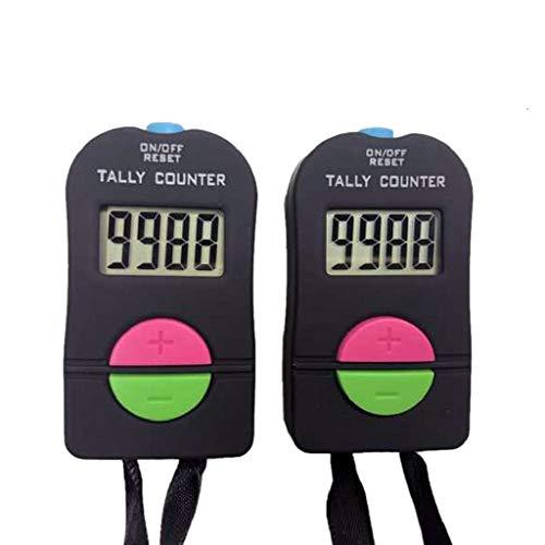 Beikalone - Contador deportivo digital pequeño para golf, contador manual, contador para sumar y restar, 2 unidades