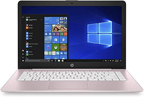 "41CpKrLM2ML. SL500 2021 HP Stream 14"" HD Thin and Light Laptop, Intel Celeron N4000 Processor, 4GB RAM, 64GB eMMC, HDMI, Webcam, WiFi, Bluetooth, 1 Year Office 365, Windows 10 S, Rose Pink"