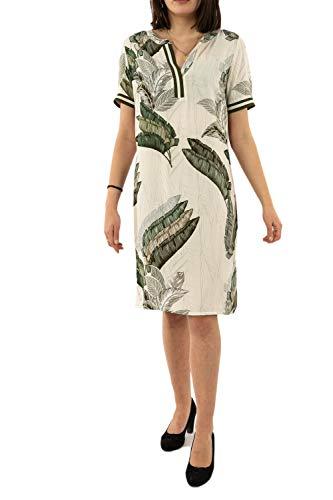 Geisha jurk 07073-20 000010 - off-white/green combi