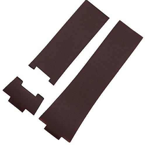 26 mm correa de reloj banda de goma marrón Compatible con Nardin 353 - 68le-3