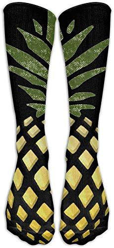 remmber me Gold Ananas Klassiker Strümpfe Große Qualität Kniehohe Röhrensocken Sport Lange Socken Für Männer Frauen
