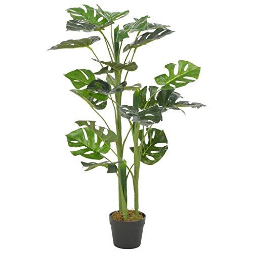 UnfadeMemory Monstera,Planta Artificial Decorativa,Decoración de Hogar Oficina,con Macetero,Altura 100cm,Verde y Marrón