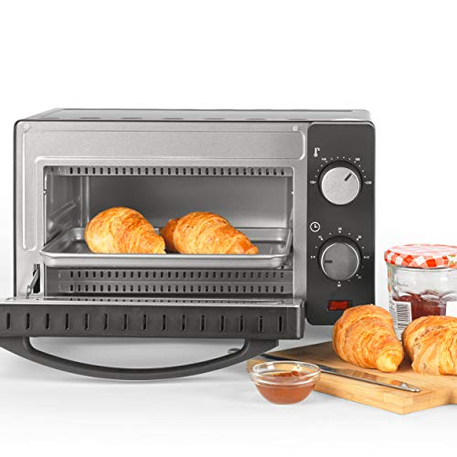 Salter® EK4358 10L Mini Oven, Compact Electric Tabletop Toaster Oven, 650 W, Includes Baking Tray & Wire Rack, Variable Temperature 100-230°C, Large Viewing Window, 60 Minute Timer
