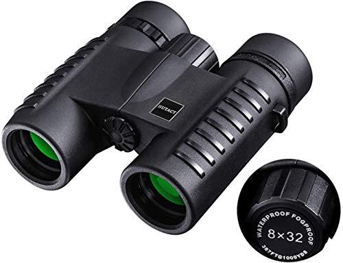 Prismáticos para Adultos, Mini prismáticos binoculares de Mini Plegado Compacto visión Nocturna de HD Prismáticos Binoculares Impermeables 8x32 telescopio del zumbido para la observación