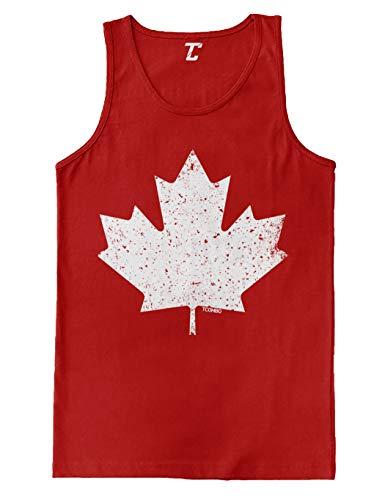 Canadian Maple Leaf - Canada Pride Men's Tank Top (Red, Medium)
