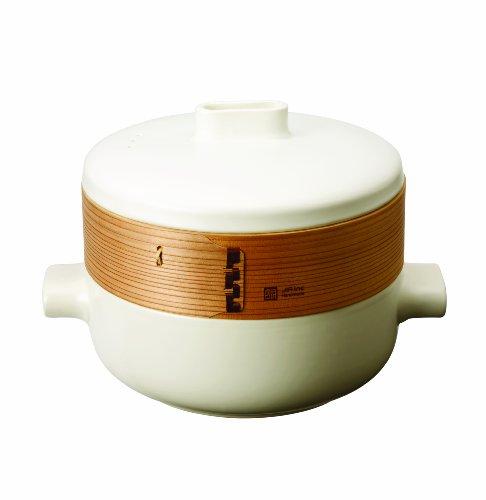 JIA Inc 10-Inch Bamboo And Ceramic Steamer Set