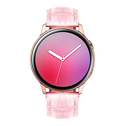 BINLUN Bandas de Reloj compatibles con Samsung Galaxy Watch 42mm / 46mm, Active 2, Samsung Gear S3 Classic/Frontier Smartwatch Correas de Cuero Genuino Reemplazo 20mm 22mm Pulsera para Hombres