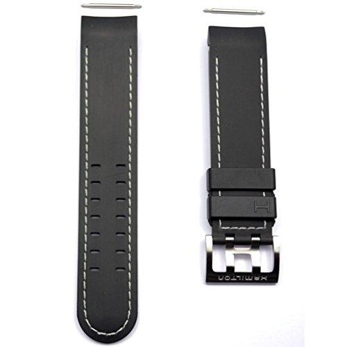 Correa Caucho Negro Reloj Hamilton Khaki X-Wind Auto. H600.776.106