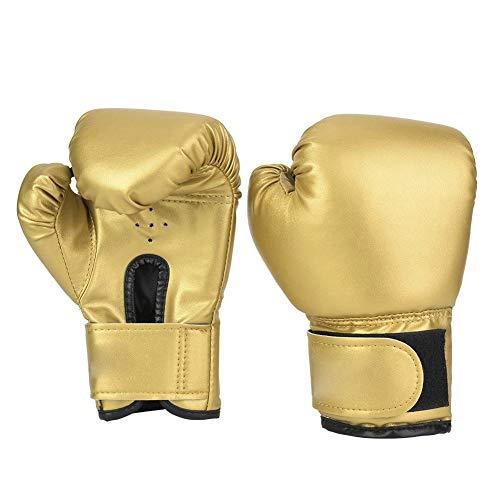 VGEBY1 Boxhandschuhe, EIN Paar PU-Leder Kinder Boxhandschuhe Stanzen Sandsack Handschuhe Trainingshandschuhe(Gold)