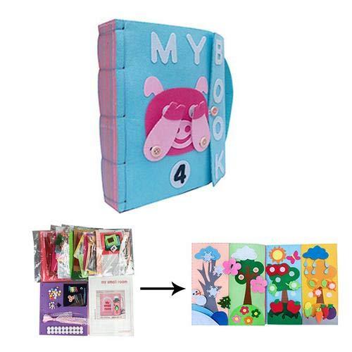 Dough.Q Montessori de Baby büche Tema fühlte se Tranquila Libros Ropa de bebé Libro frühkindliche Educación Soft Baby Books Fieltro Mano Tejida plástico 3D de Libros 6Libros para Elegir