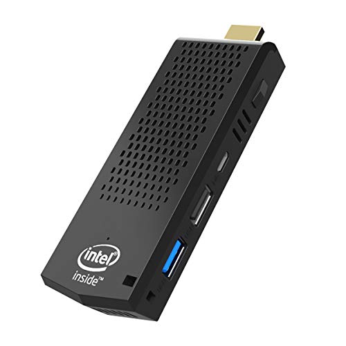 Mini PC Stick,T6 Fanless Intel Atom Z8350 Computer con Windows 10 Pro 64 bits/4 GB DDR + 64 GB eMMC/4K HD/Bluetooth 4.2/Dual WiFi/USB 3.0