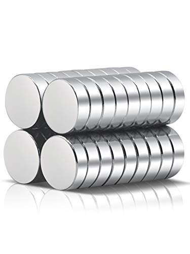 A AULIFE 36PCS Refrigerator Magnets Fridge Magnet - Premium Brushed Nickel Fridge Magnets,Round Magnets,Office Magnets