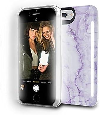 LuMee Coque de téléphone Duo Lavande | Éclairage LED avant et arrière, Variateur d'intensité variable | Absorption des chocs | Coque de protection ...