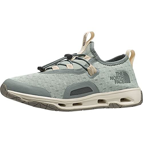 The North Face Women's Skagit Water Shoe, Green Mist/Wrought Iron, 10