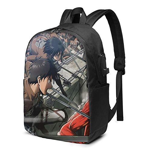 Anime Miss Kobayashi'S Dragon Maid 17 Inch Computer Backpack, with USB Charging/Headphone Port, Multipurpose Laptop Backpack, Unisex Leisure Large Backpack
