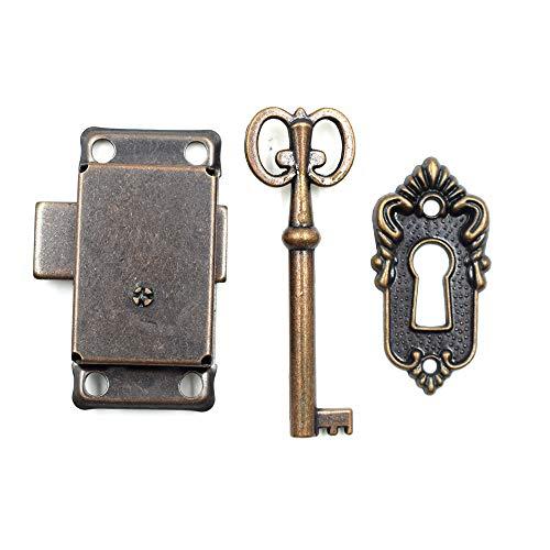 LC LICTOP Cabinet Cupboard Decorative Lock Case Box Lock with Key(1 Set)