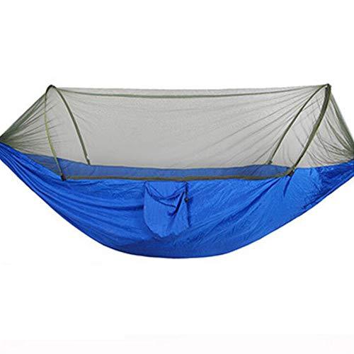 HAHALE Outdoor Hängematte, Camping Moskitonetz Hängematte mit Anti-Mosquito Breathaufbewahrungstasche für Camping Garten Innen Tourismus-Doppel Camping-Zelt 290 * 140 cm,Blau