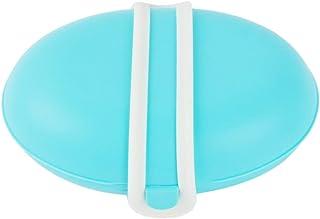 TIMETRIES 旅行旅行防水の漏れ防止の石鹸箱の携帯用シリコーンのシーリング石鹸箱,水色