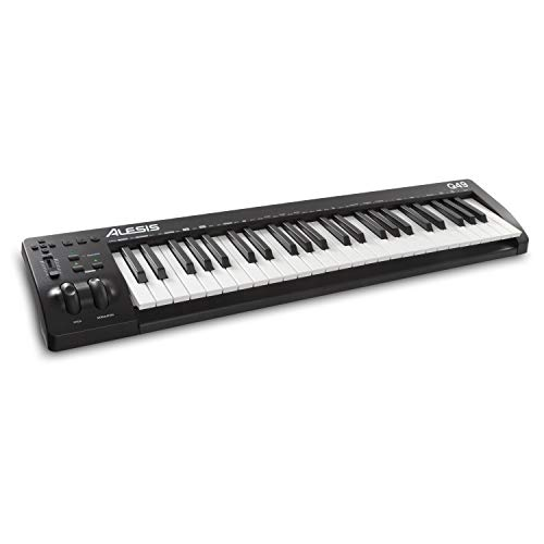 Alesis Q49 MKII - Teclado controlador MIDI USB con 49 teclas de acción sintetizador sensibles a la velocidad y software de producción musical incluido