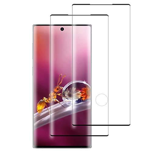 XSWO Cristal Templado Samsung Note 10 Plus [2 Unidades], Protector de Pantalla Samsung Galaxy Note 10 Plus, [3D Cobertura Completa] [9H Dureza] [Fácil Instalar] [Sin Burbujas] Vidrio Templado