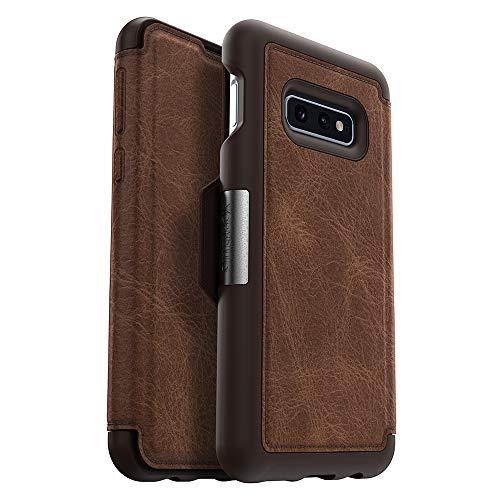 OtterBox Strada-Serie Schutzhülle für Galaxy S10e, Einzelhandelsverpackung, Espresso (Dunkelbraun/abverwendetes Leder)