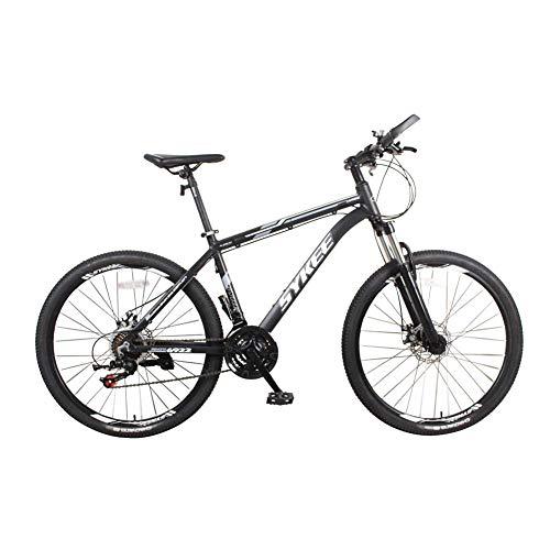 actoper Mountain Bike 26 Pollici,Bici da Uomo in Lega di Alluminio ammortizzato,Fuoristrada a 21 velocità, Sospensione per Mountain Bike con Sospensione Completa,Freno a Disco