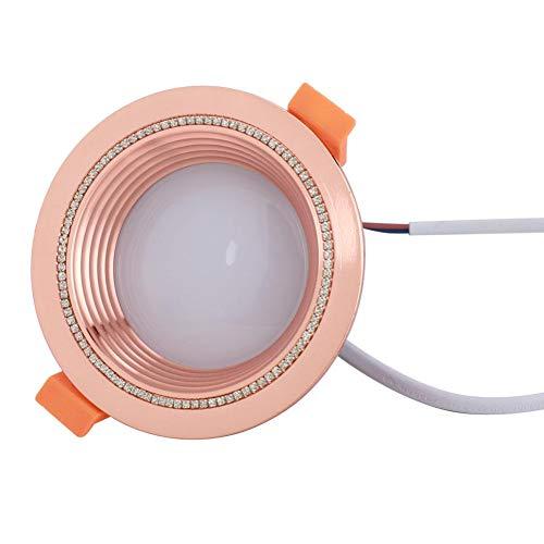 Cerlingwee Luz de Techo del RGB, lámpara de Techo de WiFi del Control de WiFi, práctica para el Dormitorio casero(Rose Gold)