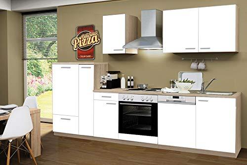 Menke Smart Easy Cocina línea 300 cm Blanco con Lavavajillas y ...
