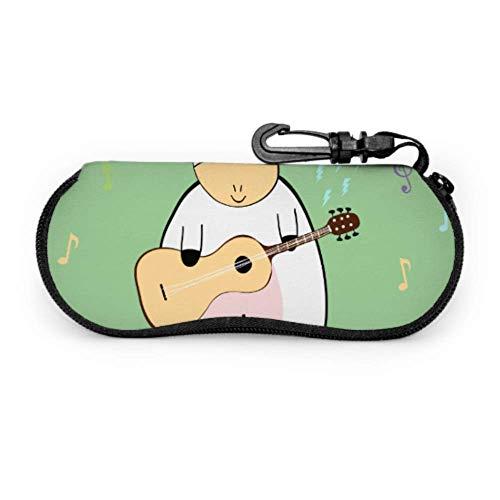 Estuche de gafas con mosquetón Uniocrn musical Toca notas de guitarra Fly...