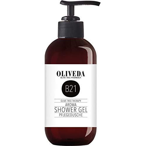 Oliveda B21 - Pflegedusche Aroma | Duschgel | wertvolle Inhaltsstoffe | zart Pflegender Schaum | erfrischend | ohne Mikroplastik - 250 ml
