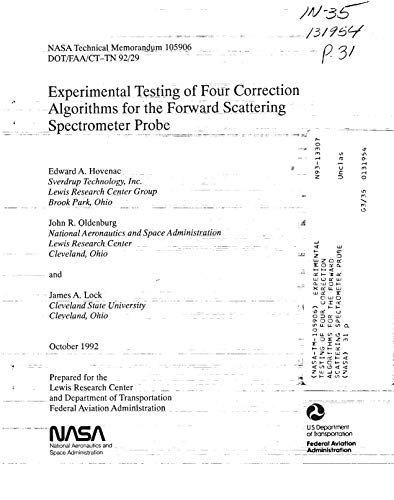 Experimental testing of four correction algorithms for the forward scattering spectrometer probe (English Edition)