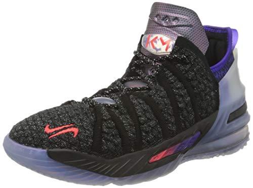 Nike Lebron 18 NRG Basketball Shoe, Black/Fierce Purple/Metallic Silver/Multi-Color, 39 EU