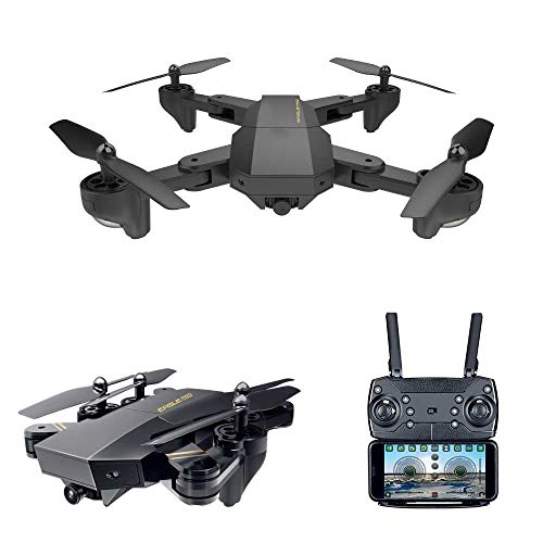 RC Quadcopter with 2.4GHz 6-Axis Gyro Altitude Hold Function and 720P HD 2MP Camera Helicopter (Black)