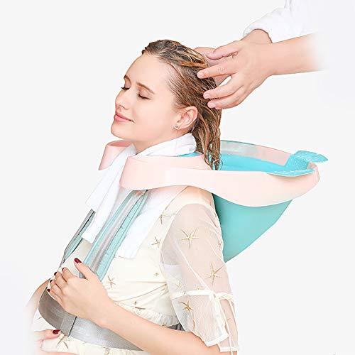 XXGJK Portatile Lavelli per Shampoo Lavatesta Portatile Ciotola Parrucchiere Mobile Letto Bagno Ciotola con Tubo di Scarico per Anziani, Disabilitato, Costretto A Letto E Disabili