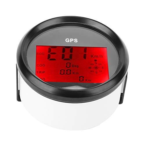 Velocímetro digital, odómetro de velocímetro impermeable 0-999 -30 ° C - + 75 ° C para barco de motocicleta de barco