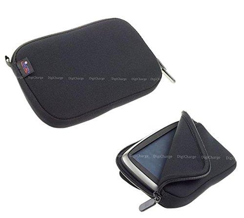Digicharge® 5 Zoll Schwarz Neopren-Hülle Navibag Tasche für TomTom Go PREMIUM 5