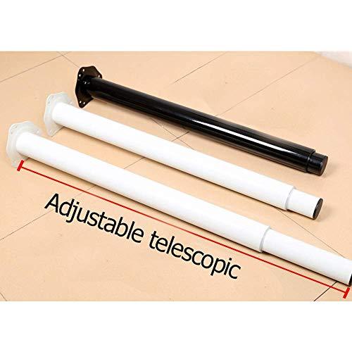 N/Z Daily Equipment Table Leg Metal Pillar Legs Adjustable Height |700Mm 1000Mm;510Mm 700Mm| Telescopic Legs Breakfast Bar Worktop Support Table Leg Black/White Niture Feet White (4Pcs) 70 100Cm