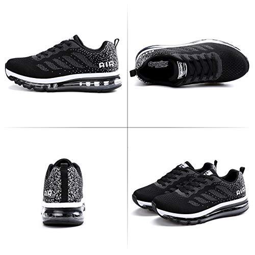 Air Zapatillas de Running para Hombre Mujer Deporte Zapatillas de Trail Deportivas Ligero Fitness Gym Zapatos para Casual Gimnasio Correr Sneakers Athletic Transpirables(Talla 41EU, Negro)