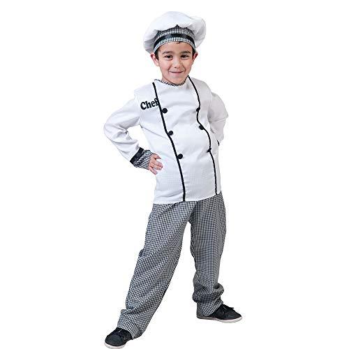 COOLMP Fiesta Palace  Disfraz de chef cocinero infantil, talla 140 cm