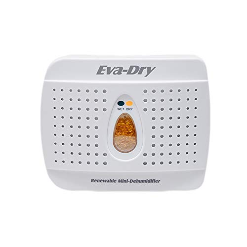 Eva-Dry Wireless Mini Dehumidifier. Top Moisture Absorber for Small Spaces. Rechargeable & Portable. Perfect for Bedrooms, Closets, Cars, RV & Gun Safes. Removes Humidity & Helps Prevent Mold Growth