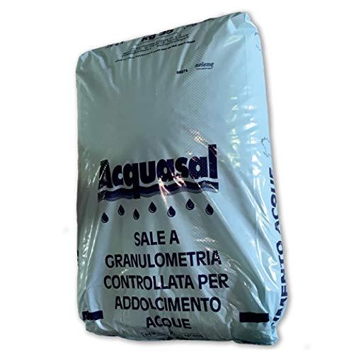 LordsWorld - Aquasal - 25 kg getrocknetes Meersalz - Salze im Granulat - Für Elektrolyse-Systeme Wasserbecken - Für Schwimmbäder und Wasserenthärtungssysteme - Nacl ± 99,9% - 22608-SALE-PISCINA