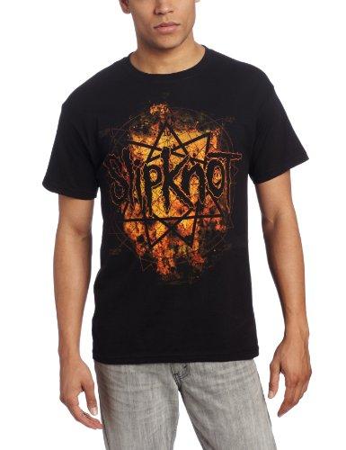 Bravado Herren Slipknot Radio Fire T-Shirt - Schwarz - Mittel