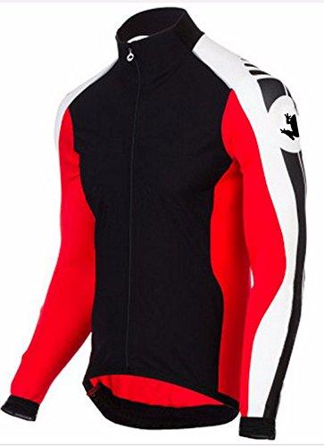 Uglyfrog Radsport Herren Radtrikot Shirt Lange Ärmel Rennrad Trikot Pro Team MTB Radfahren Top Radshirt Atmungsaktiv Durchgehender Reißverschluss