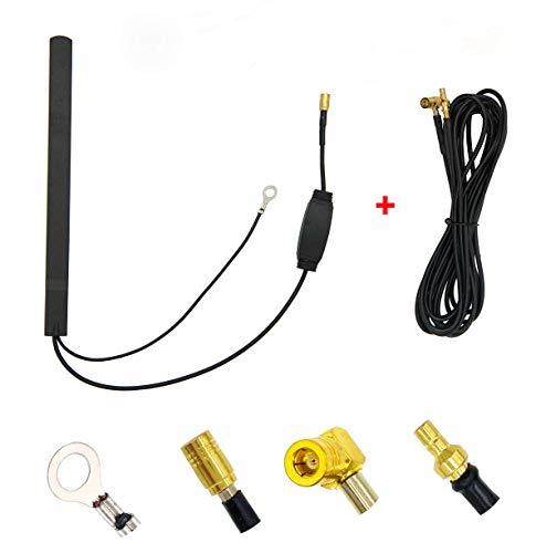 Vecys Dab Patch Antena Amplificador Señal Dab Dab+ Antena Coche 15dBi Adaptador...