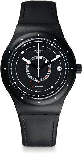 Swatch Reloj Digital para Hombre de Automático con Correa en Cuero SUTB400