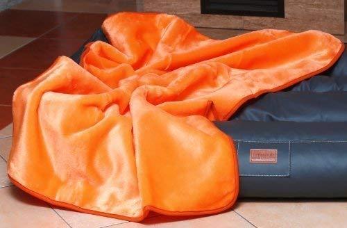 tierlando Hundedecke Lilly Plüsch Plüschdecke Hundebett Decke Katzendecke WEICH Größe: HD-150 cm | Farbe: 18 Orange