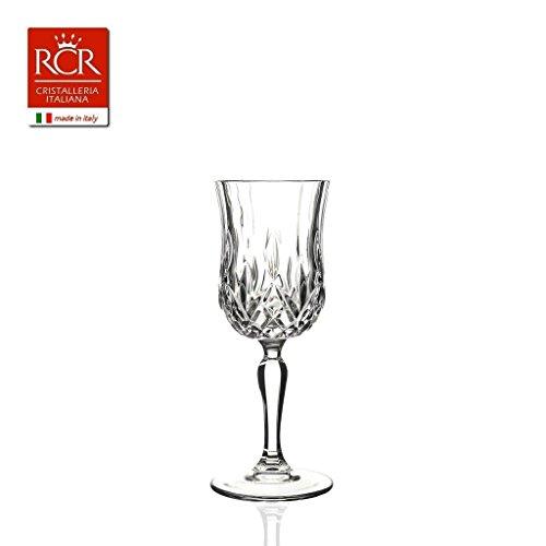 Rcr Laurus Copa Vino 16 cl, Juego 6 Piezas, Vidrio, Transparente