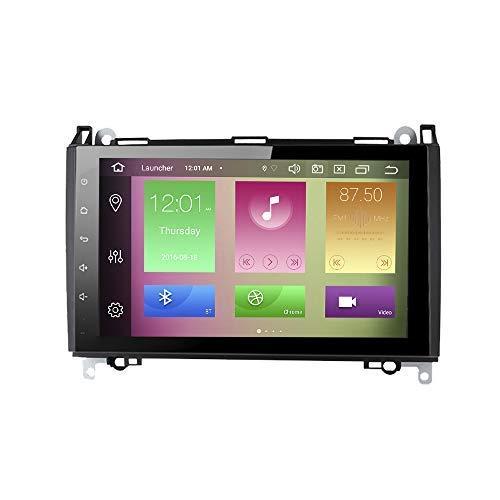JIBO Android 10 Auto Radio GPS Navegación Cabeza Unidad por Mercedes Benz Clase A/B 2004-2012 Estéreo Nav Sat 9' Tocar Pantalla Teléfono Control SWC Multimedia Jugador Video Receptor