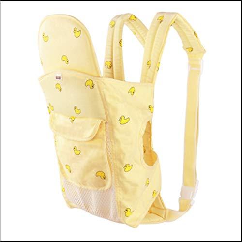 Ergonomique Porte-bébé Sacs À Dos Bébé Kangourou Nouveau-Né Sling Wrap Multifonction Infantile for Bébé Porte-bébé (Color : Yellow)