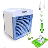 Personal Air Cooler,6.5inch Evaporative Portable Air Conditioner Fan,Small Space USB Air Cooler,Mini Table Fan,Compact Air Humidifier Evaporative Cooler